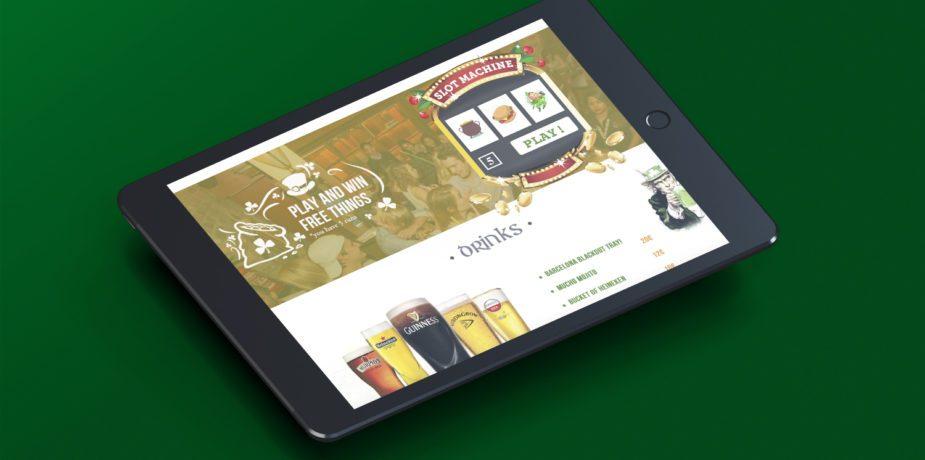 Diseño web pub irlandés