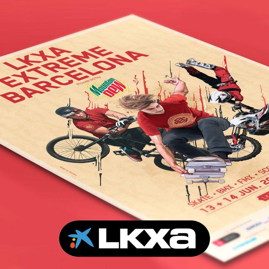 LKXA Extreme Barcelona Branding
