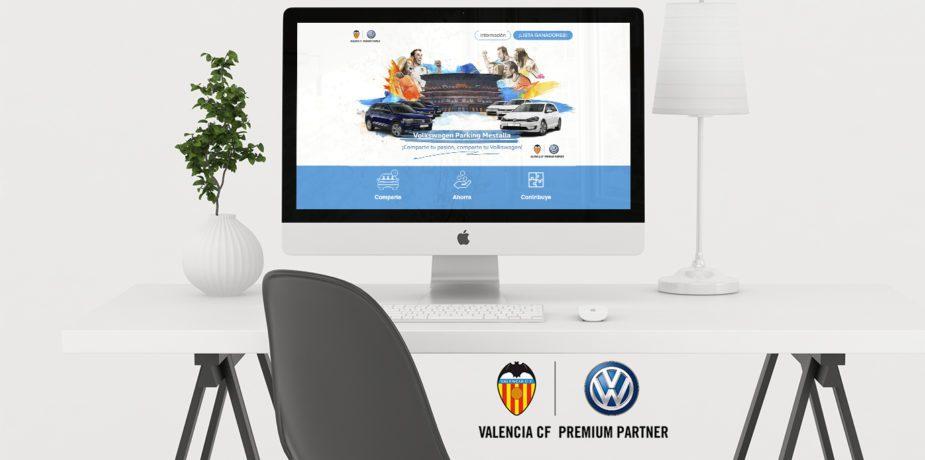 Diseño web para campaña de Volkswagen Valencia