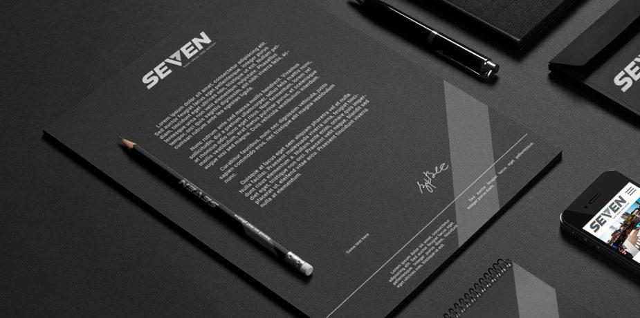 Diseño de identidad corporativa Seven
