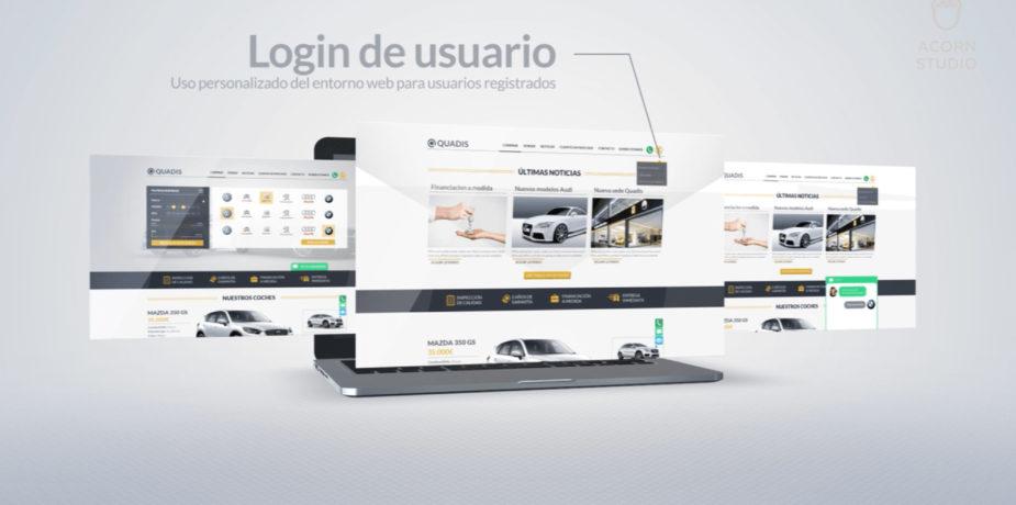 Diseño web para coches