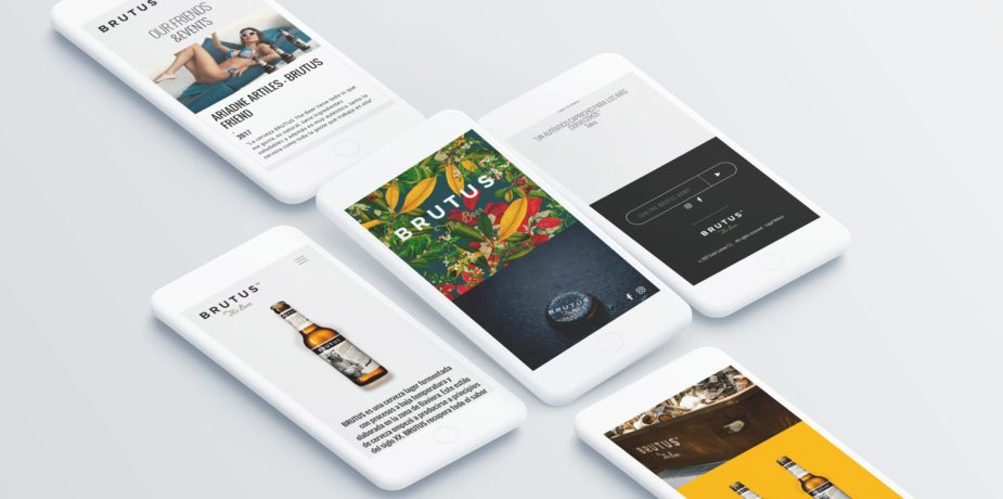 Diseño web para la cerveza BRUTUS