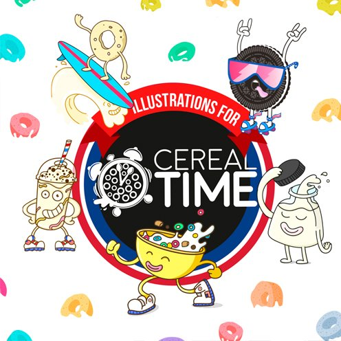 Cereal Time Brand & Illustrations