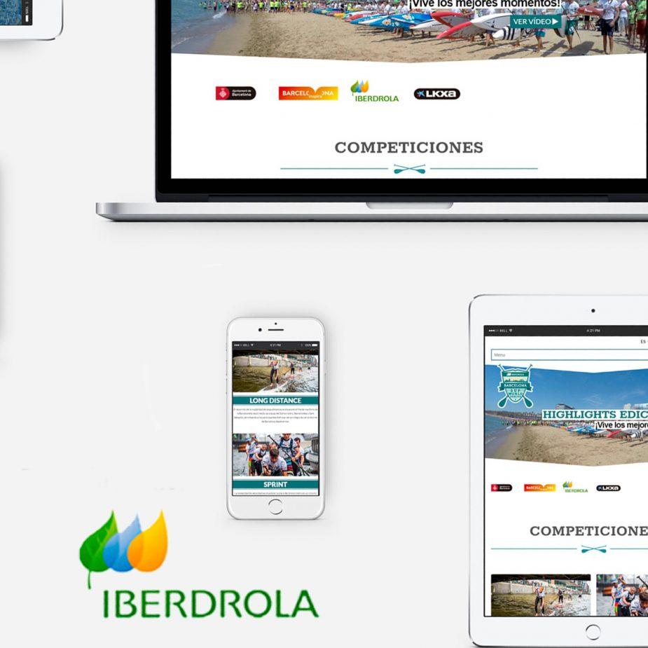 Iberdrola SUP World Series Diseño Web