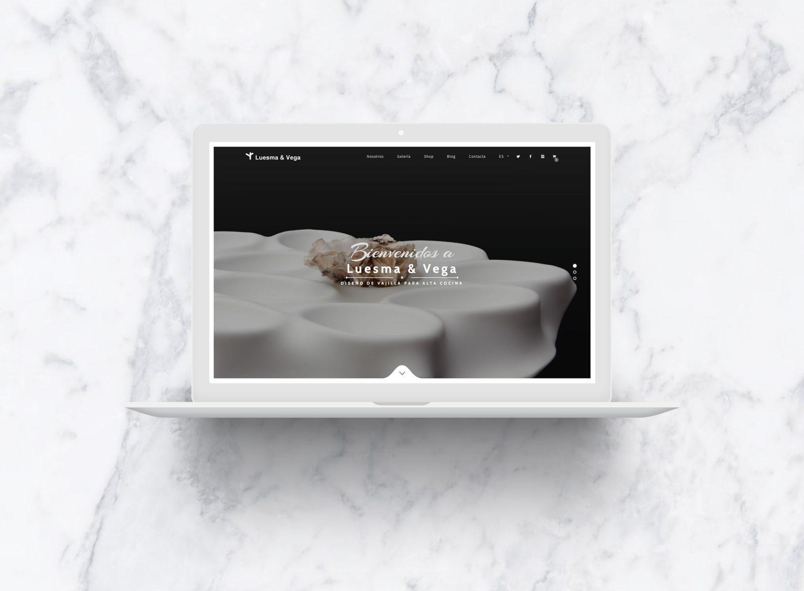 Diseño web responsive para web artesana de vajilla de lujo