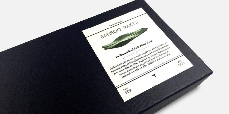 Diseño de etiqueta para vajilla de lujo