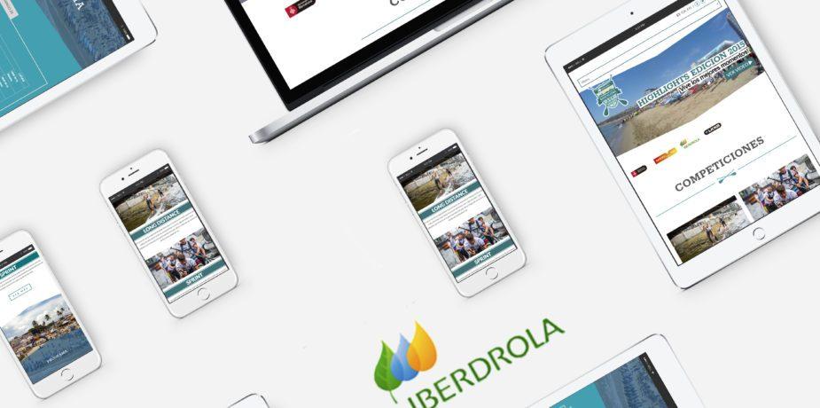 Portada trabajo diseño web para iberdrola