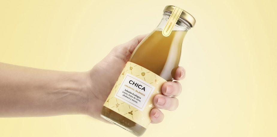 Botella CHICA sujetada