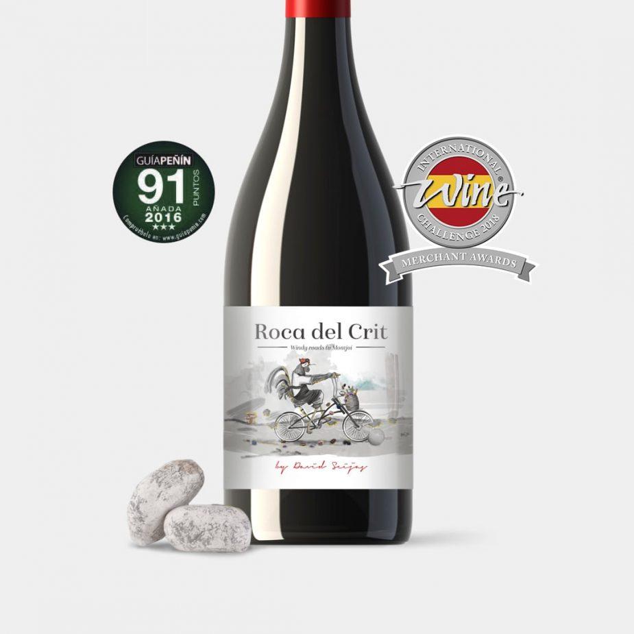 Diseño de packaging de vino Roca del Crit