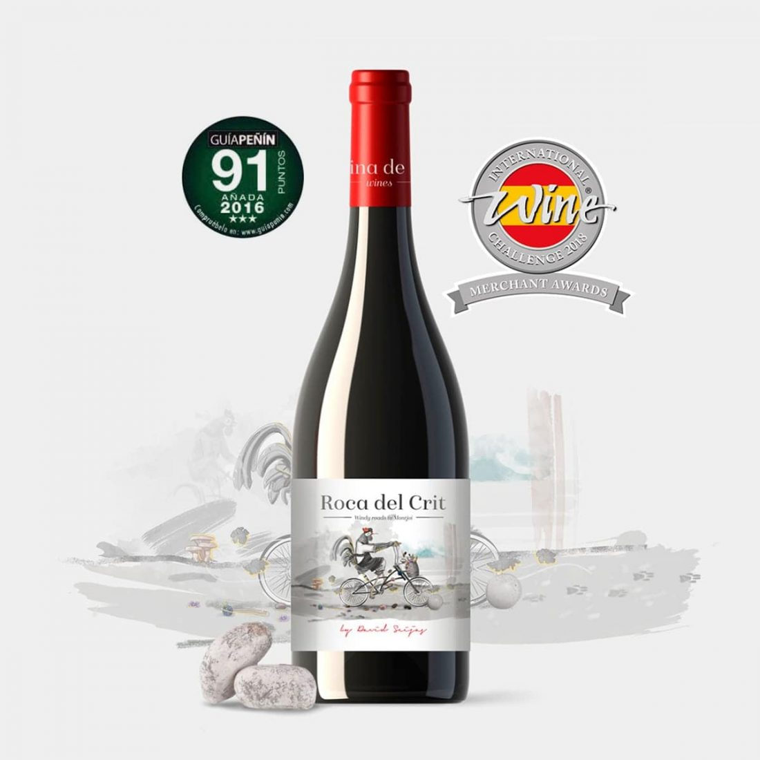 Roca del Crit Diseño de etiqueta de vino