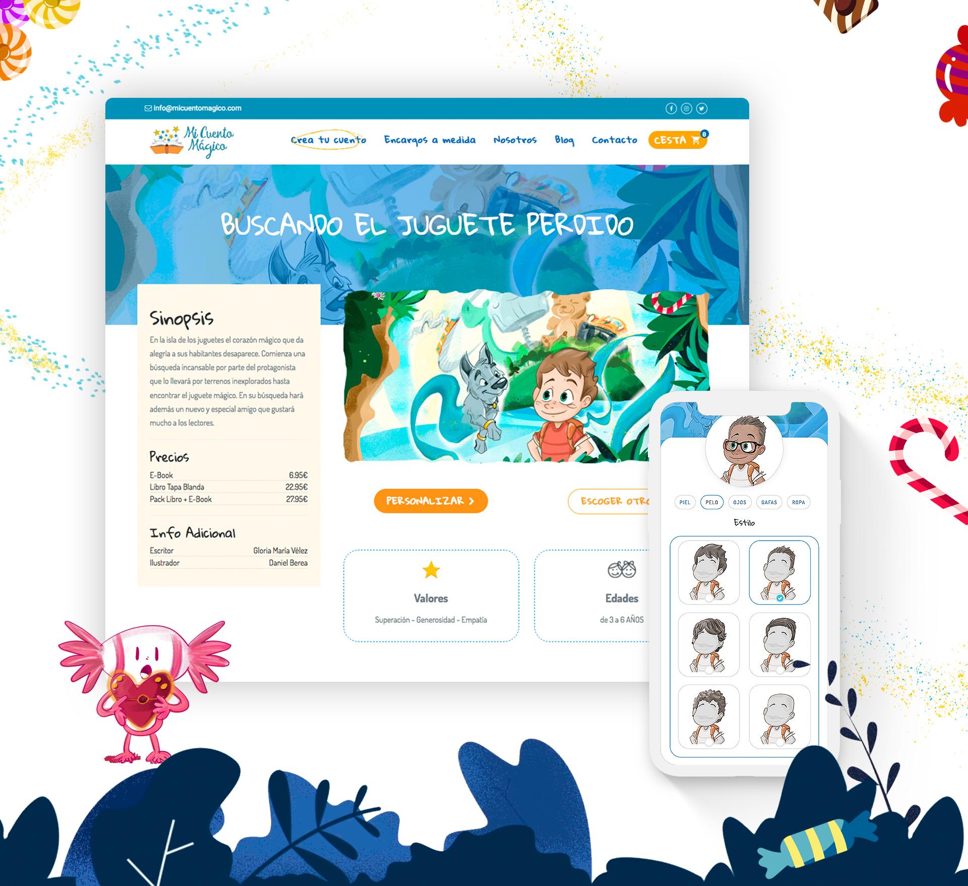 Mi cuento mágico diseño portal interactivo