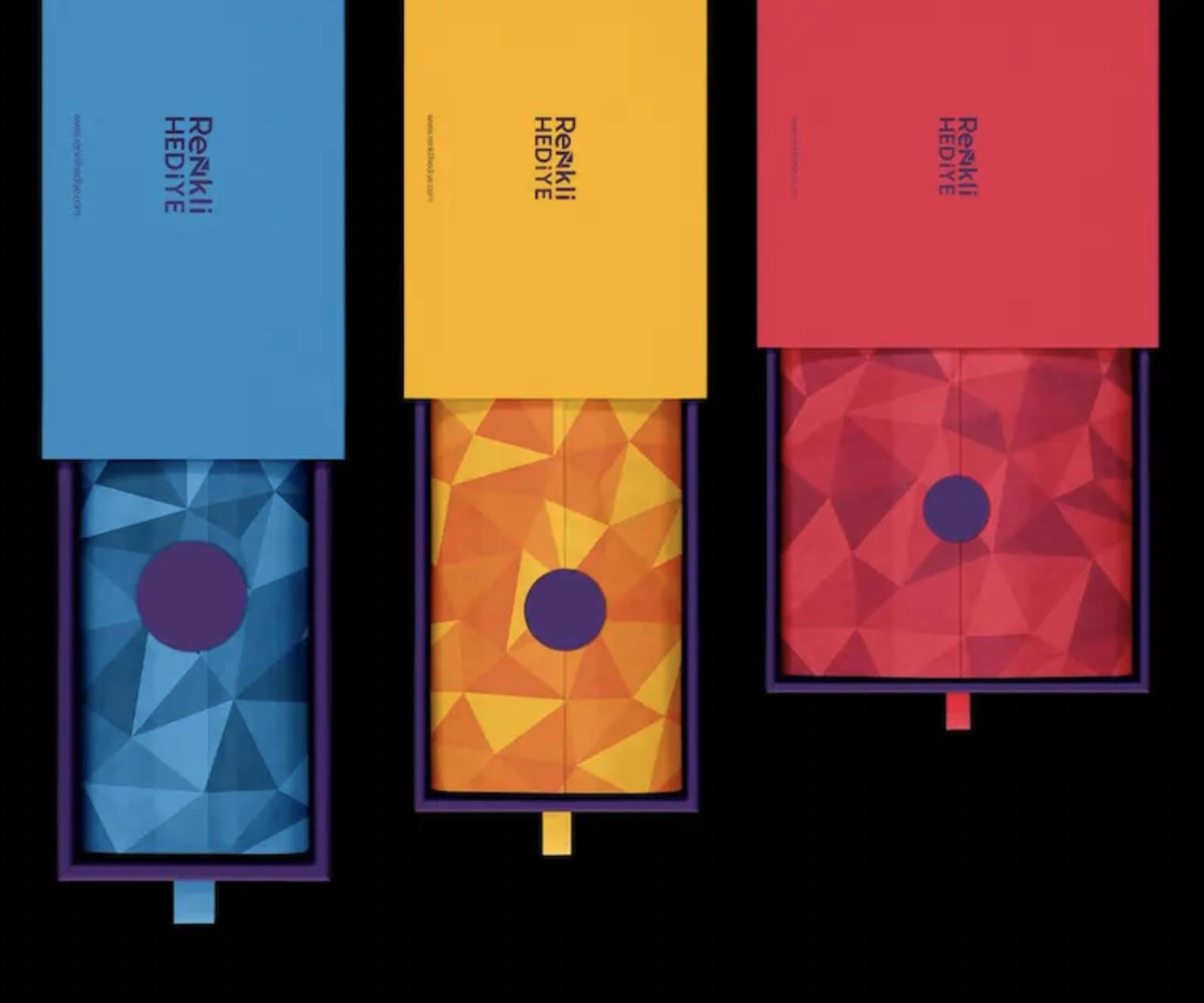 diseño etiquetas geométricas